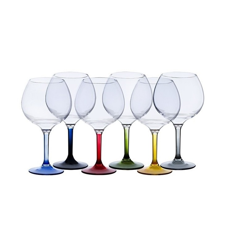 Copa gin tonic con base colores Party 6 uds.