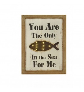 Cuadro luminoso You are the only fish