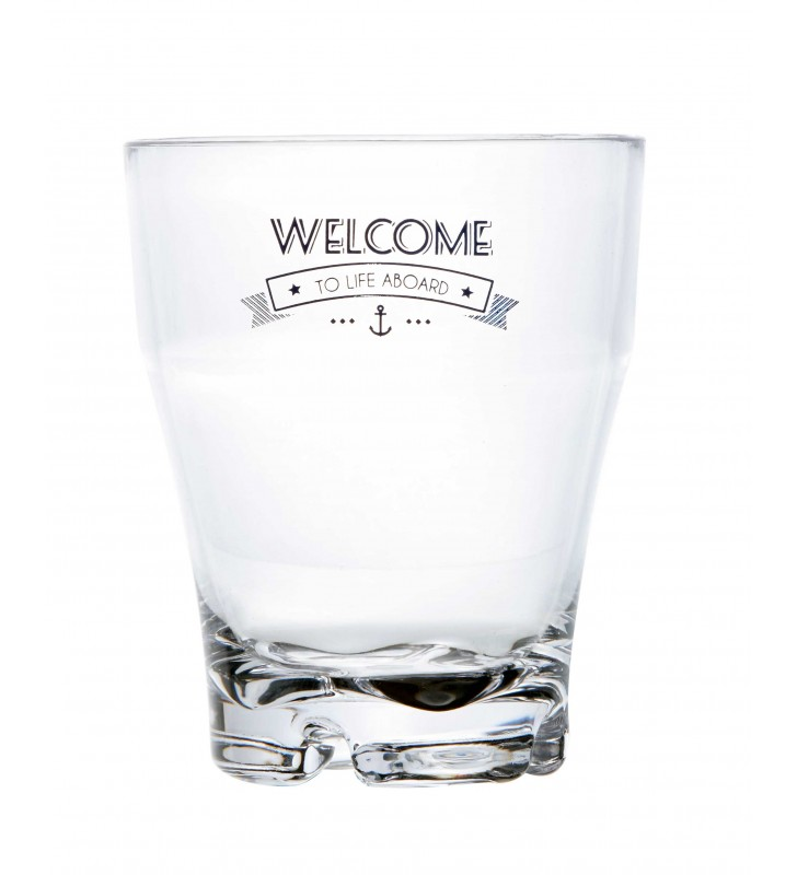 Set vasos apilables welcome to life Party 6 uds.